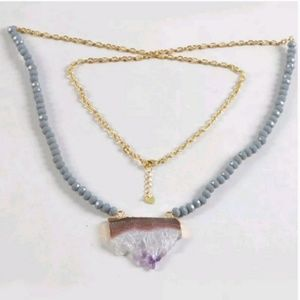 "Jewelry - ""Goddess"" Amethyst slice necklace"